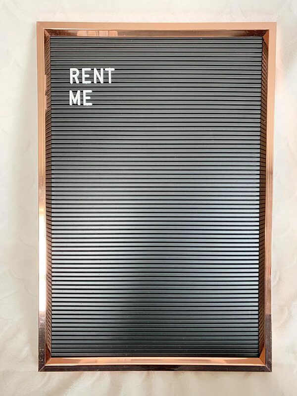 Custom Letter Board - Rose Gold